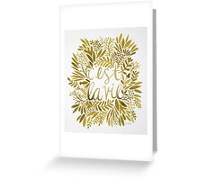 That's Life – Gold Greeting Card