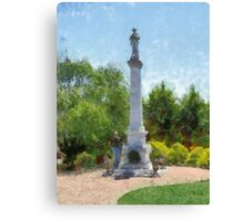 Confederate Monument in Franklin, NC Canvas Print