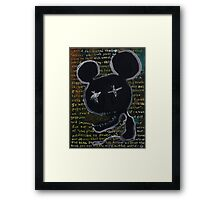 the darkness at the heart of the modern world Framed Print