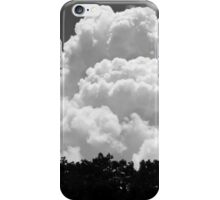 Black And white Sky With Building Thunderhead Storm Clouds iPhone Case/Skin