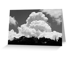 Black And white Sky With Building Thunderhead Storm Clouds Greeting Card