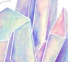 Watercolor Crystals (Blue Hue) Sticker
