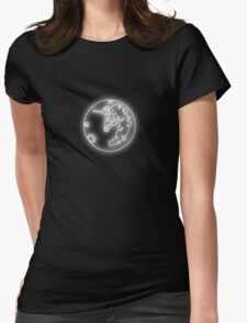 Luna's Moon Neon Glow Lights Womens Fitted T-Shirt