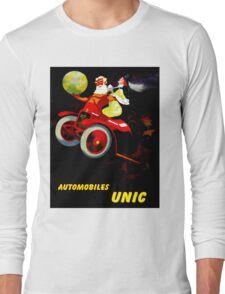 """UNIC AUTOMOBILES"" Vintage Advertising Print Long Sleeve T-Shirt"