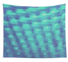 Modern Fashion Abstract Color Pattern in Blue / Green Wall Tapestry