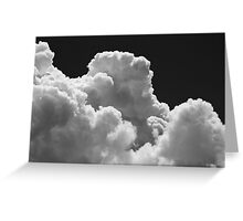 Black And white Sky With Thunderstorm Clouds Greeting Card