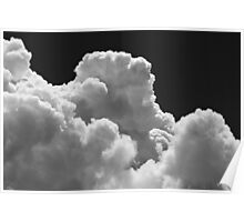 Black And white Sky With Thunderstorm Clouds Poster