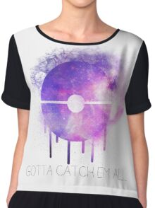 Pokeball Galaxy Print Chiffon Top