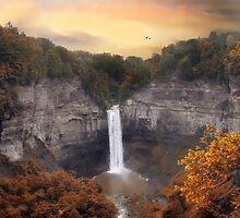 Taughannock Falls in Autumn by Jessica Jenney