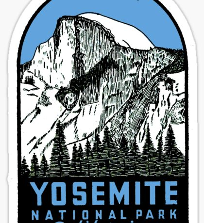 Yosemite National Park Half Dome vintage decal Sticker
