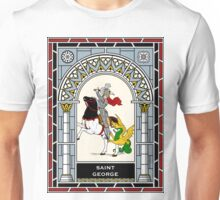 ST GEORGE, MARTYR under STAINED GLASS Unisex T-Shirt
