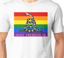 Don't Tread On Me Gay Lesbian Bisexual Trans Gadsden LGBT Flag Unisex T-Shirt