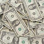 American One Dollar Bills by KWJphotoart