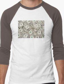 American One Dollar Bills Men's Baseball ¾ T-Shirt