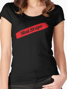 Jamaican Chillin' With A Red Stripe  Women's Fitted Scoop T-Shirt