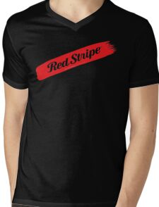Jamaican Chillin' With A Red Stripe  Mens V-Neck T-Shirt