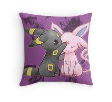 Espeon and Umbreon Throw Pillow