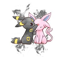 Espeon and Umbreon Photographic Print