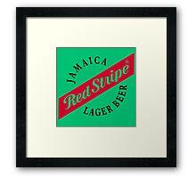 Jamaica Red Stripe Lager Beer Framed Print