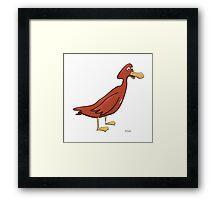 Crazy Duck Framed Print