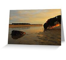Setting Sun catches Rocks Greeting Card