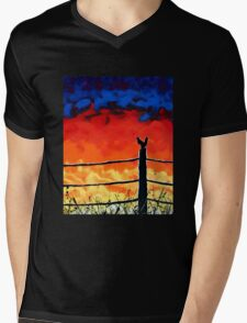 Not so Wildfire Mens V-Neck T-Shirt