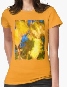 Leaves and Shadows Womens Fitted T-Shirt