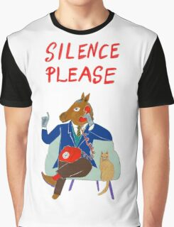 Silence Please Graphic T-Shirt