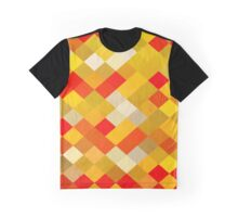 Abstraction #138 Red and Gold Diamonds Graphic T-Shirt