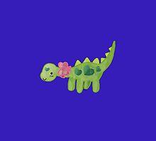 Pink ribbon Dino by Olluga