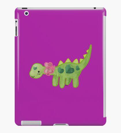 Pink ribbon Dino iPad Case/Skin