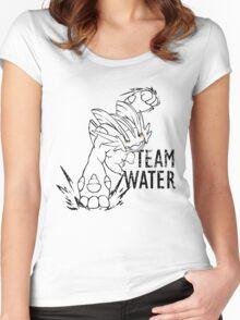 Team Water - Mega Swampert (Lineart) Women's Fitted Scoop T-Shirt