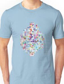 Watercolor paint droplets in multiple colors Unisex T-Shirt