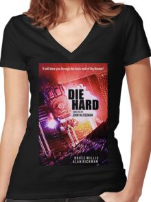 DIE HARD 3 Women's Fitted V-Neck T-Shirt