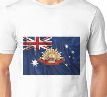 Australian Army Emblem over Australian Flag Unisex T-Shirt