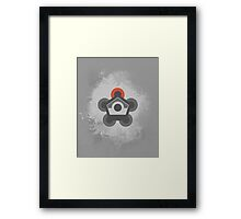 Battle Frontier Greyscale Framed Print