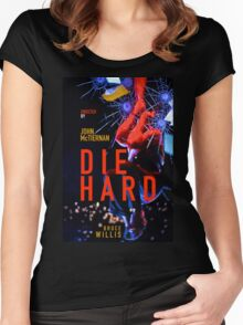 DIE HARD 4 Women's Fitted Scoop T-Shirt