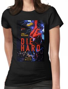 DIE HARD 4 Womens Fitted T-Shirt