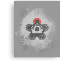 Battle Frontier Greyscale (Distressed) Canvas Print
