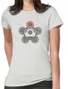 Battle Frontier Greyscale (Distressed) Womens Fitted T-Shirt