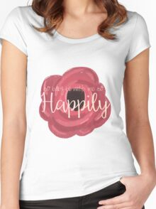 Happily Women's Fitted Scoop T-Shirt