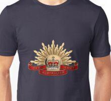 Australian Army Emblem over Blue Velvet Unisex T-Shirt