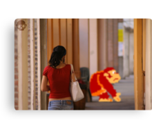 Donkey Kong Spotted Canvas Print