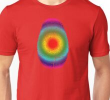 Rainbow Fingerprint Unisex T-Shirt