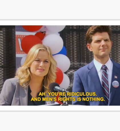 parks and recreation - men's rights is nothing Sticker