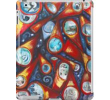 Conical .. telescopic playfulness in red and cobalt iPad Case/Skin