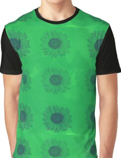 Sunflowers in Green Graphic T-Shirt