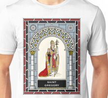 ST GREGORY THE GREAT  under STAINED GLASS Unisex T-Shirt
