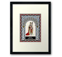 ST GREGORY THE GREAT  under STAINED GLASS Framed Print