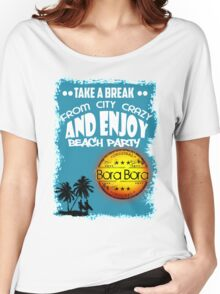 Bora Bora Summer Beach Women's Relaxed Fit T-Shirt